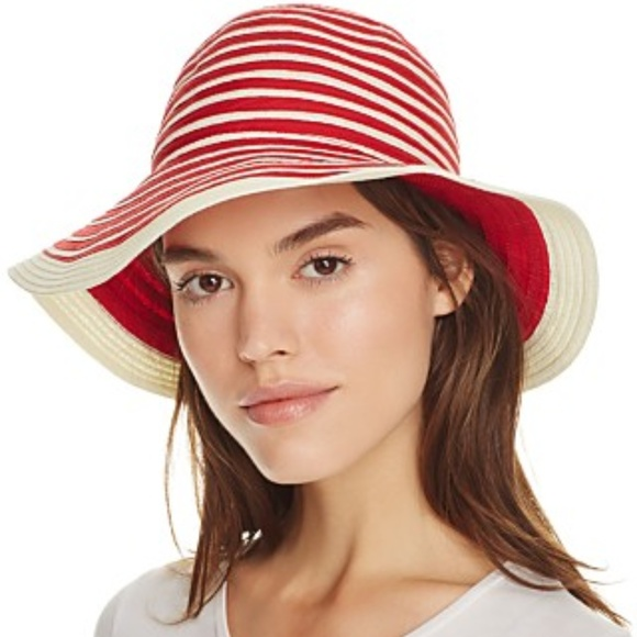 fe50816e353 BARBOUR SEALAND FLOPPY SUN HAT Red Stripe XL